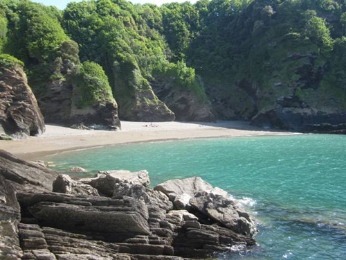 Sandy Bay beach near Ilfracombe in North Devon